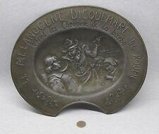 Ancien plat à barbe Etain>MELANOGENE DICQUEMARE ROUEN>36cm.1920 grammes>Poincon