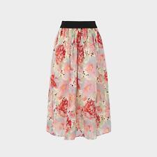 L.K.Bennett Bouvier Rose Print Silk Organza Skirt
