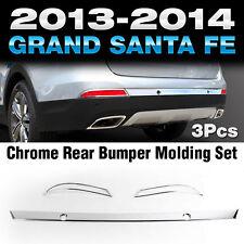 Chrome Rear Bumper Molding Cover Garnish K-519 For HYUNDAI 2014-2015 Santa Fe XL