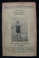 1939 John Pounds Mission Stepney - Holiday Appeal Leaflet