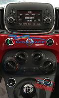 FIAT 500 POP ADESIVI STICKER DECAL AUTORADIO CLIMATIZZATORE TUNING CARBON LOOK