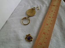 Vintage  Bowling Keychain & Pin Club 195 **(Key Chain =Anson Twin Lock)