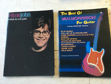 Elton John Solo Guitar and Best of Van Morrison Lot