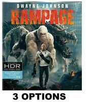 RAMPAGE * Dwayne Johnson - The Rock * 4K / BLU-RAY / DVD