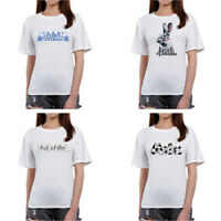 Fashion Women Casual Summer Short Sleeve Letters Prints T-Shirt Blouse Tops Tee