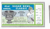 1974 Sugar Bowl college football ticket stub Nebraska Cornhuskers Florida Gators