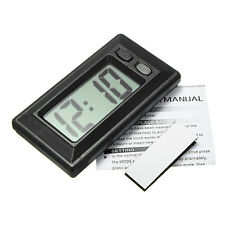 New Auto Mounted Electronic LCD Digital Mini Clock w/ Calendar for Car Dashboard