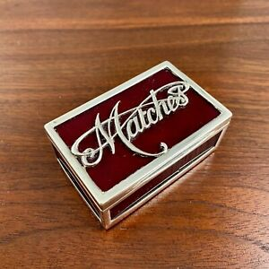 ALFRED FULLER VICTORIAN ENGLISH STERLING SILVER GUILLOCHE ENAMEL MATCH BOX 1894
