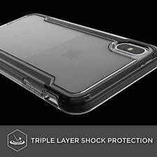 iPhone XS Max Case Extreme Drop Protection Ultra Clear Hard PC Back Cover Black