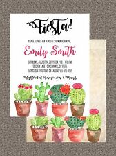 Bridal Wedding Couples Shower Invitation Fiesta Any Colors