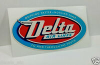 DELTA Airlines Vintage Style Decal / Vinyl Sticker, Luggage Label