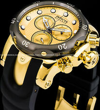 Invicta Reserve Venom Swiss Chronograph 18K Gold Plated Gunmetal Bezel Watch