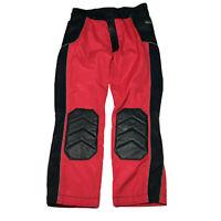 Vintage Hein Gericke Leather Nylon Motorcycle Pants Size 38 Red Black