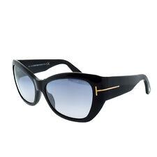 61b5d20bb42 Tom Ford FT0460 01C Black Women s Full Rim Cat Eye Sunglasses
