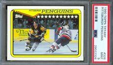 1990 Topps Tiffany #326 Pittsburgh PENGUINS Team RANDY GILHEN Mint PSA 9 Pop 1