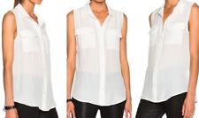 Equipment Slim Signature Sleeveless Blouse in Nature White, size small *Nw/oT*