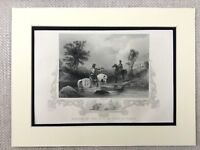 1854 Antique Engraving Print Earl of Tyrone and Essex Irish History Ireland Eire
