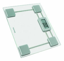 Salter Compact Glass Electronic LCD Display Digital Bathroom Body Weight Scale