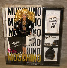 Moschino Barbie doll NRFB blonde version very limited edition designer 164d62f65c8