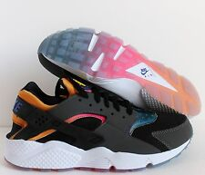 NIKE AIR HUARACHE RUN SD BLACK-VIOLET-TOUR YELLOW-PINK POW SZ 10.5 [724764-005]