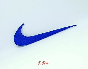 Sports logo badges colourful nike Blue sew on iron on Embroidered Patch
