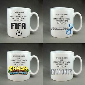 In My Head Playing Game Mug Gaming Mug YouTube Xbox Playstation Crash Fifa COD
