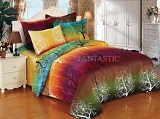 Pair of Rainbow Tree European Pillowcases