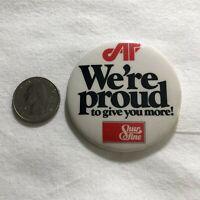 Affiliated Food Stores Shur Fine We're Proud Vintage Pinback Button #36579