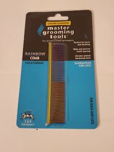 Master Grooming Tools Rainbow  Comb Face & Finishing