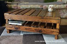 Realizzato a mano su misura Celtic Country Cottage Rustico recuperata tavolino in legno