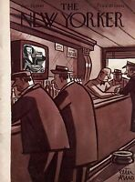 1949 New Yorker January 29 - Taking a break at the Bar - Peter Arno