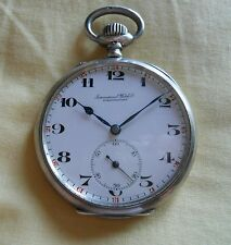 IWC Pocket Watch 1907 - 16 jewels SOLID SILVER - PLATA (197)
