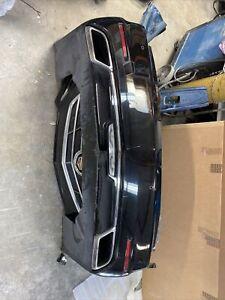 2014 2015 2016 cadillac cts sedan rear bumper w/ 4 sensors & 3 modules -black #4