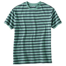 55% OFF! AUTH MERONA MEN STRIPED ULTIMATE TEE GREEN/BLUE X-LARGE BNEW US$ 11.99