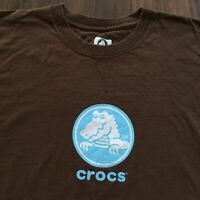 Vintage Crocs T-Shirt Men's XL Footwear Shoes Official Logo Brown Streetwear OG