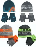 New Under Armour Boys Beanie Hat and Gloves Set Choose Color & Size MSRP $29.99