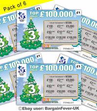 FAKE XMAS SCRATCH CARDS SCRATCHCARD TICKETS JOKE -Put in Xmas Cards SECRET SANTA