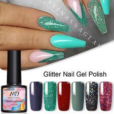 MAD DOLL Green Glitter UV Gel Bling Sequins Soak Off Gel Nail Polish Varnish DIY