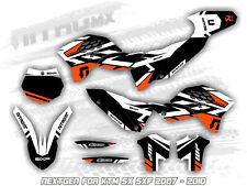 NitroMX Graphic Kit for KTM SX SXF 125 250 450 2007 2008 2009 2010 Motocross MX