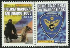 Ecuador 1652/53 2002 Policía Nacional Antinarcóticos Perro dog MNH