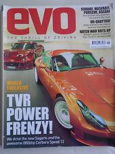 Evo No 79 May 2005 TVR Sagaris, Cerbera Speed 12, Megane 225 Trophy, Focus ST