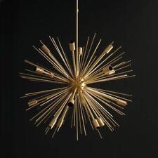 """16 Lights Modern Brass Sputnik Urchin Chandelier Light Fixture 22""""D"""
