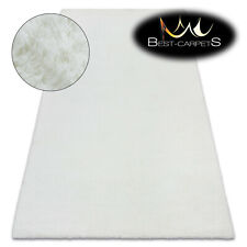 MODERN thick, soft in touch RUG 'BUNNY' white Rabbit fur imitation bellarosa