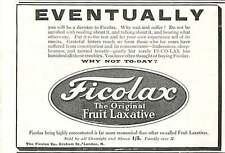 WW1 The Ficolax Company Graham Street Lond Fruit Laxatives