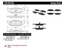 Disc Brake Pad Set-Disc Rear Centric 103.05120