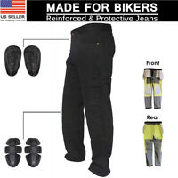 Motorcyle Armour Jeans Pants Trousers Reinforced With Aramid Protection Lining