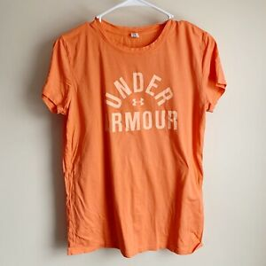 Under Armour Spell Out Logo Short Sleeve Active Athletic Tee T-shirt Size Small