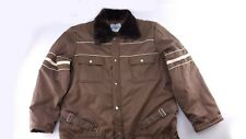 SEARS WORK LEISURE Vintage Winter Snow Suit Brown Striped Size Small-Medium