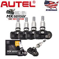 4 * Autel TPMS MX-Sensor 315MHz Programmable Universal Tire pressure Sensor US