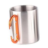 280ml Kids Drinking Glass Cold Hot Water Bottle Coffee Mug To-Go Orange